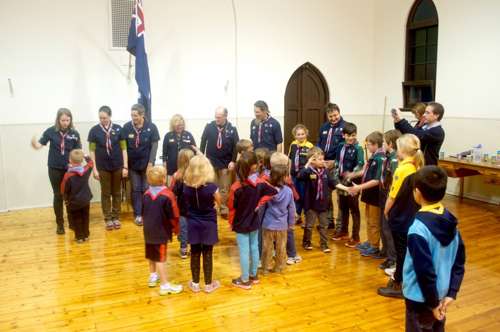 Nine new Joey Scouts were inducted at 5th Brunswick.